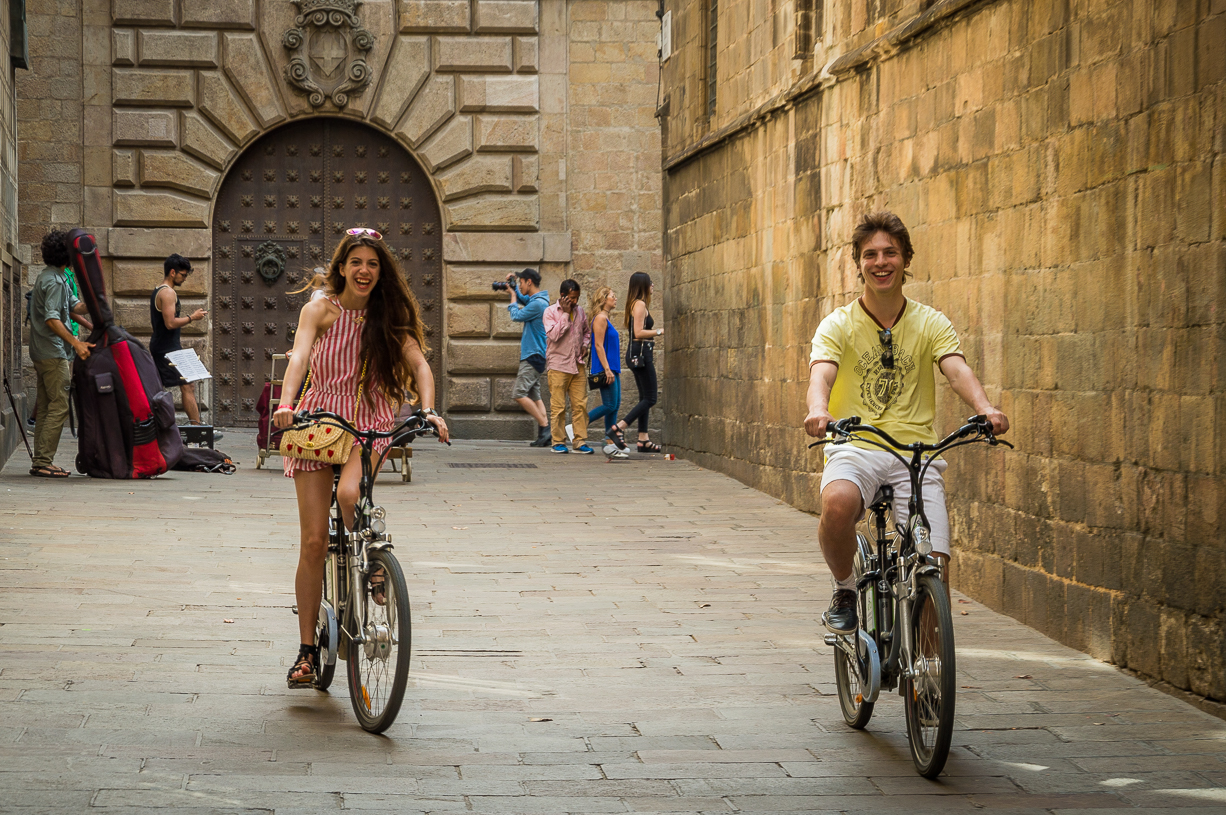 classic city bike tour Barcelona