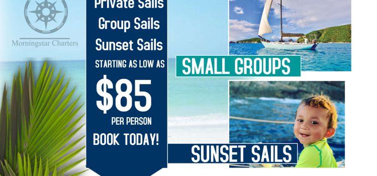Morningstar Charters has a new flyer in Cruz Bay!